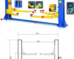 2 post 4ton Car Lifts 220v MANUAL RELEASE 021 5562413