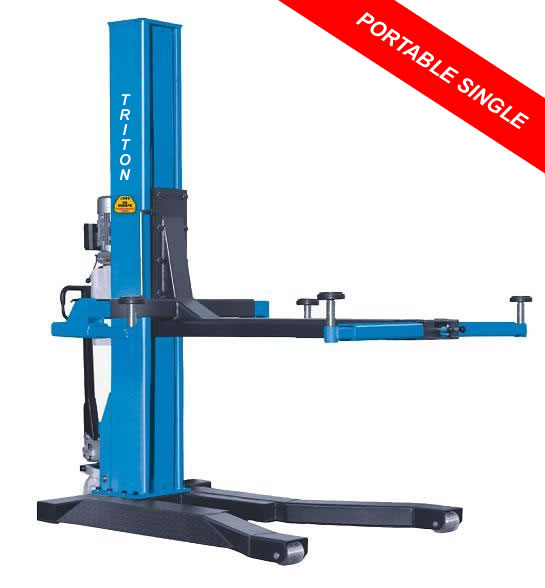 Globe Portable Auto Lift : Single post hydraulic lift portable movable ton