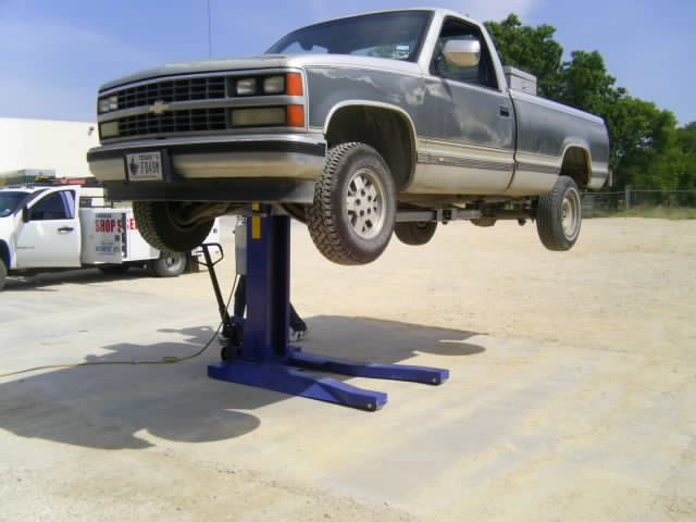Hydraulic Car Lift : Single post hydraulic lift portable movable ton